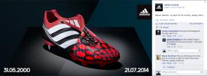 adidas steven gerrard predator facebook update