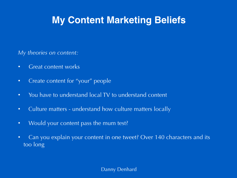 content marketing beliefs