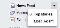 Facebook newsfeed edit