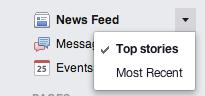 Facebook newsfeed edit