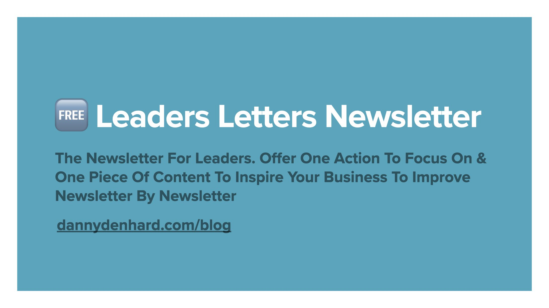 the leaders letters newsletter