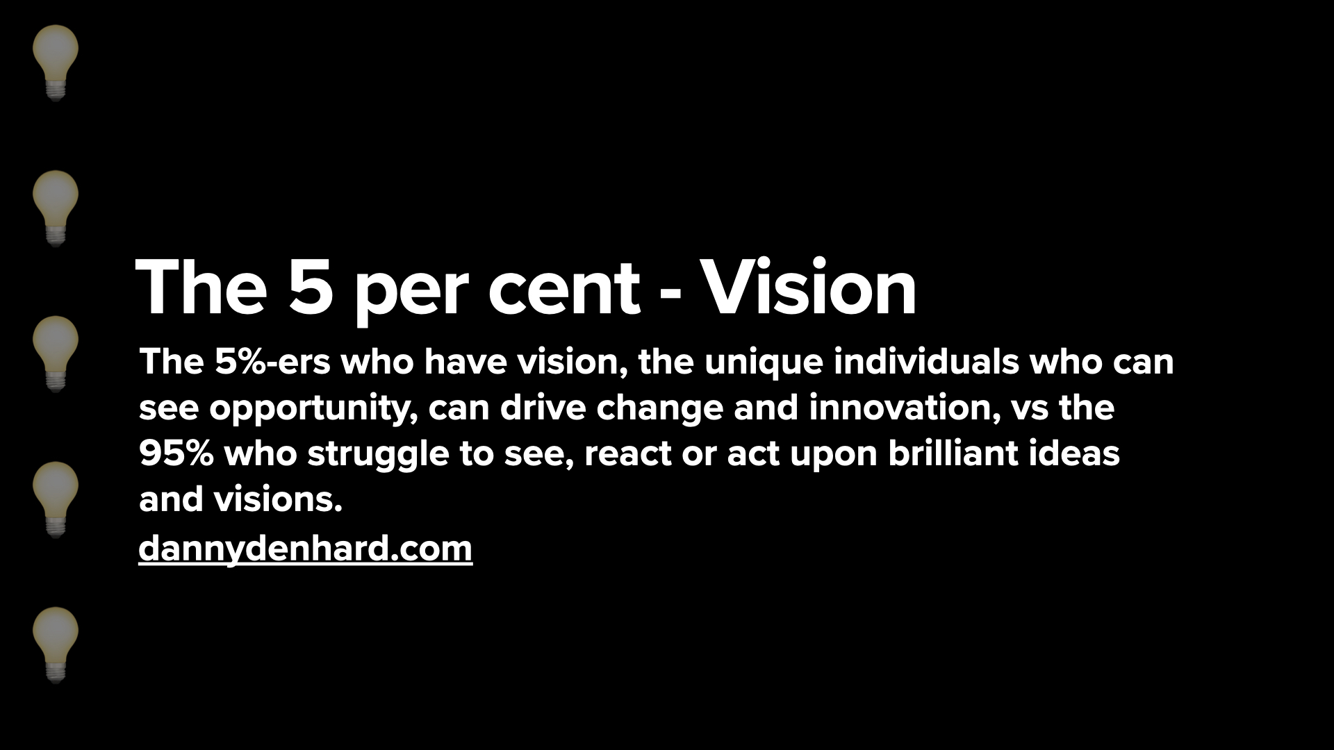 Vision - the 5 per cent