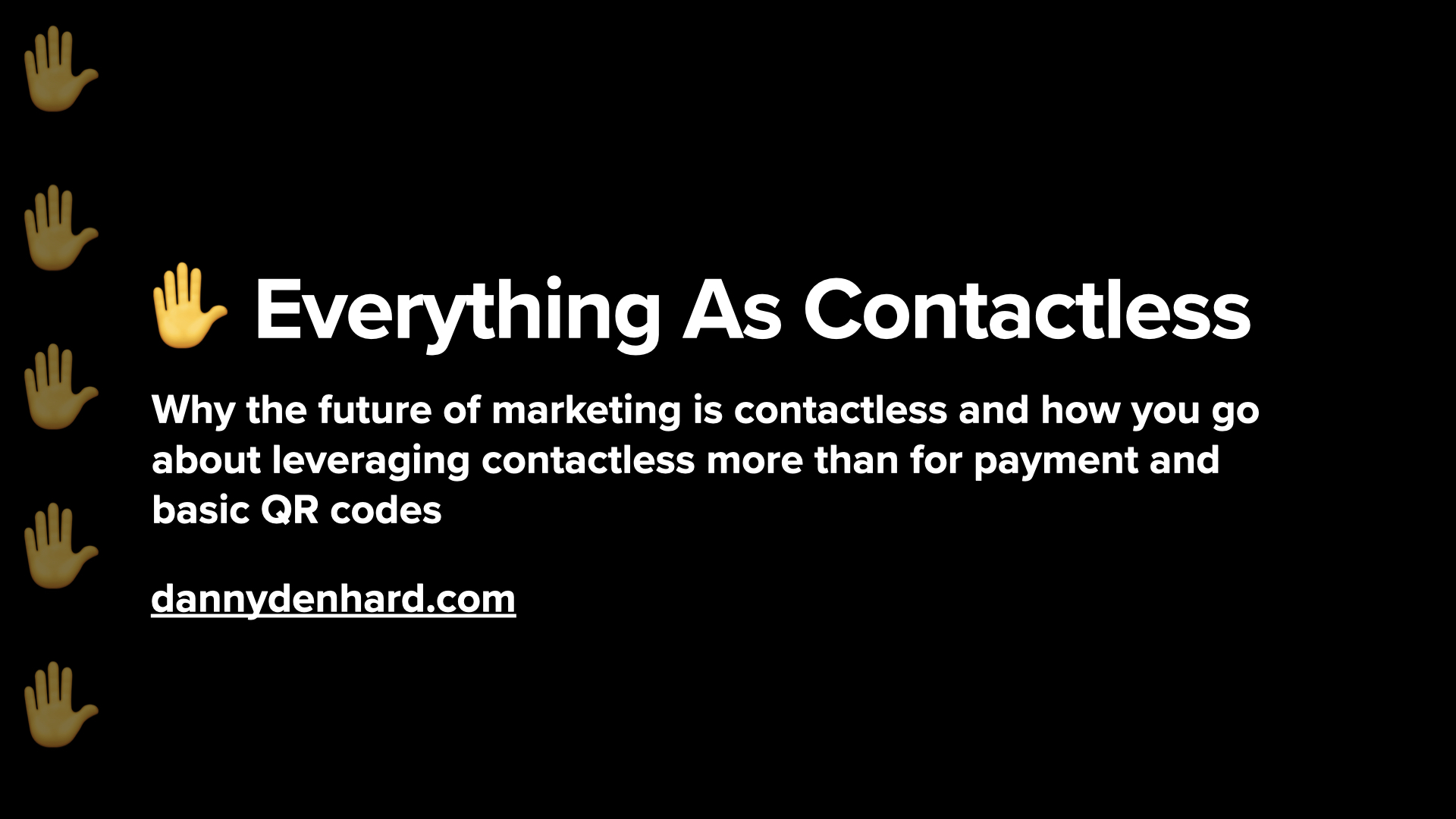 everything as contactless