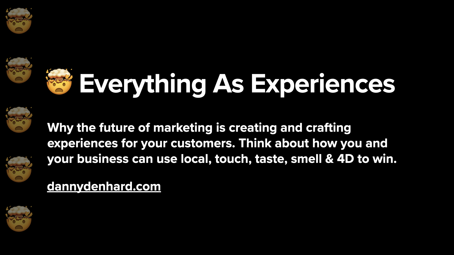 everything as experiences