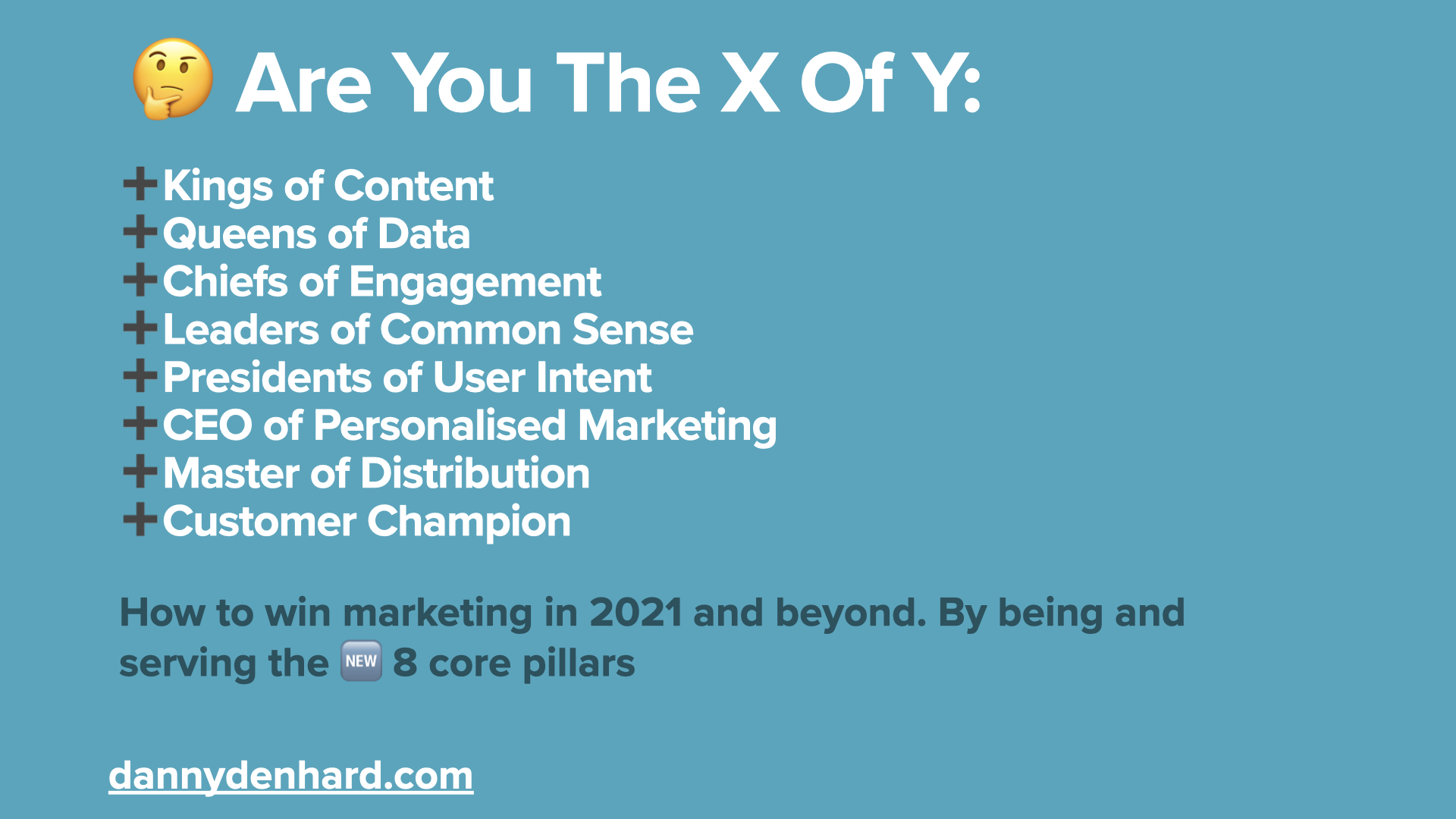 are you the x of y?